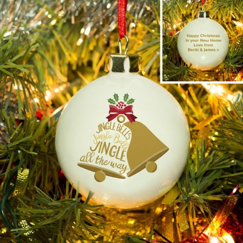 Personalised Jingle Bells Bauble